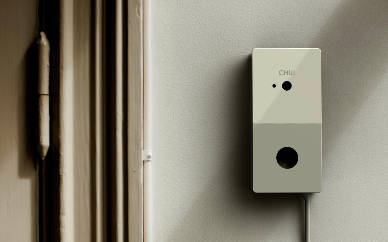 Белый дверной звонок