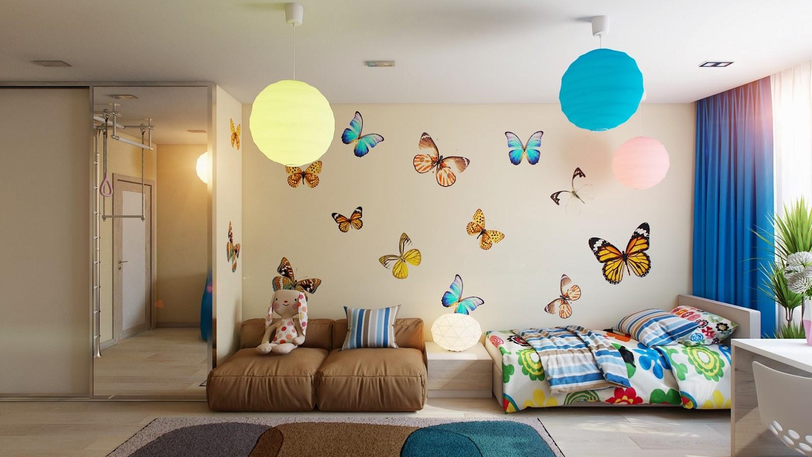 Бескаркасный диван в комнату девочки