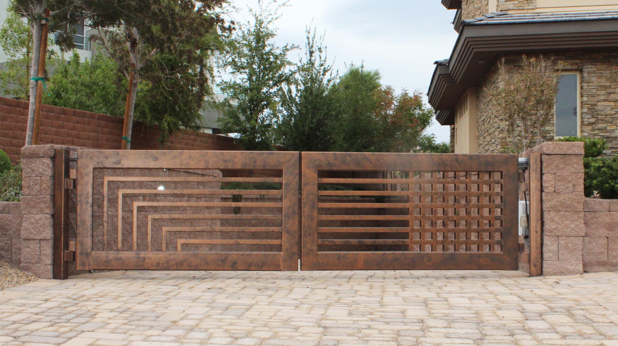 Распашные ворота под бронзу
