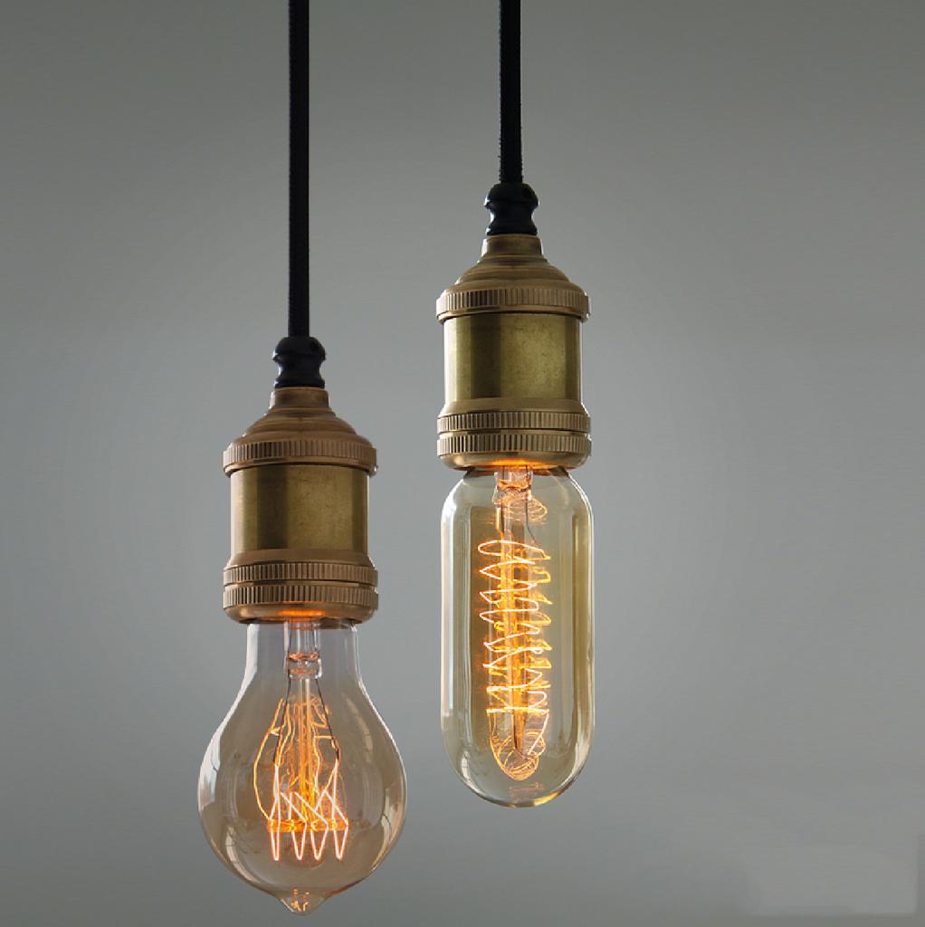 Лампа Эдисона под бронзу