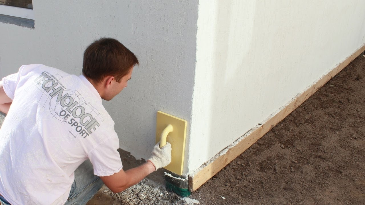 Цементная фасадная шпаклевка