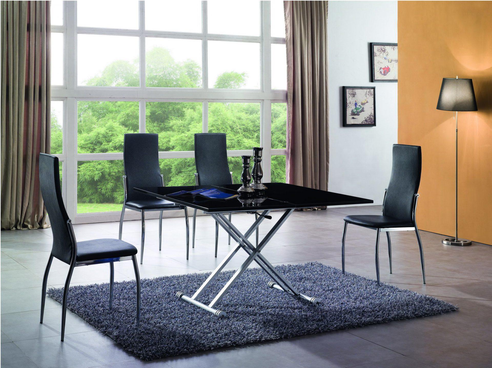 Черный стол трансформер