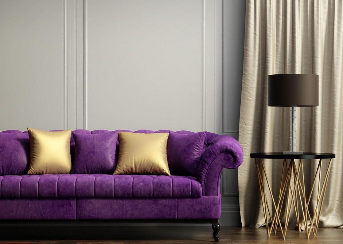 Фиолетовый диван Честер