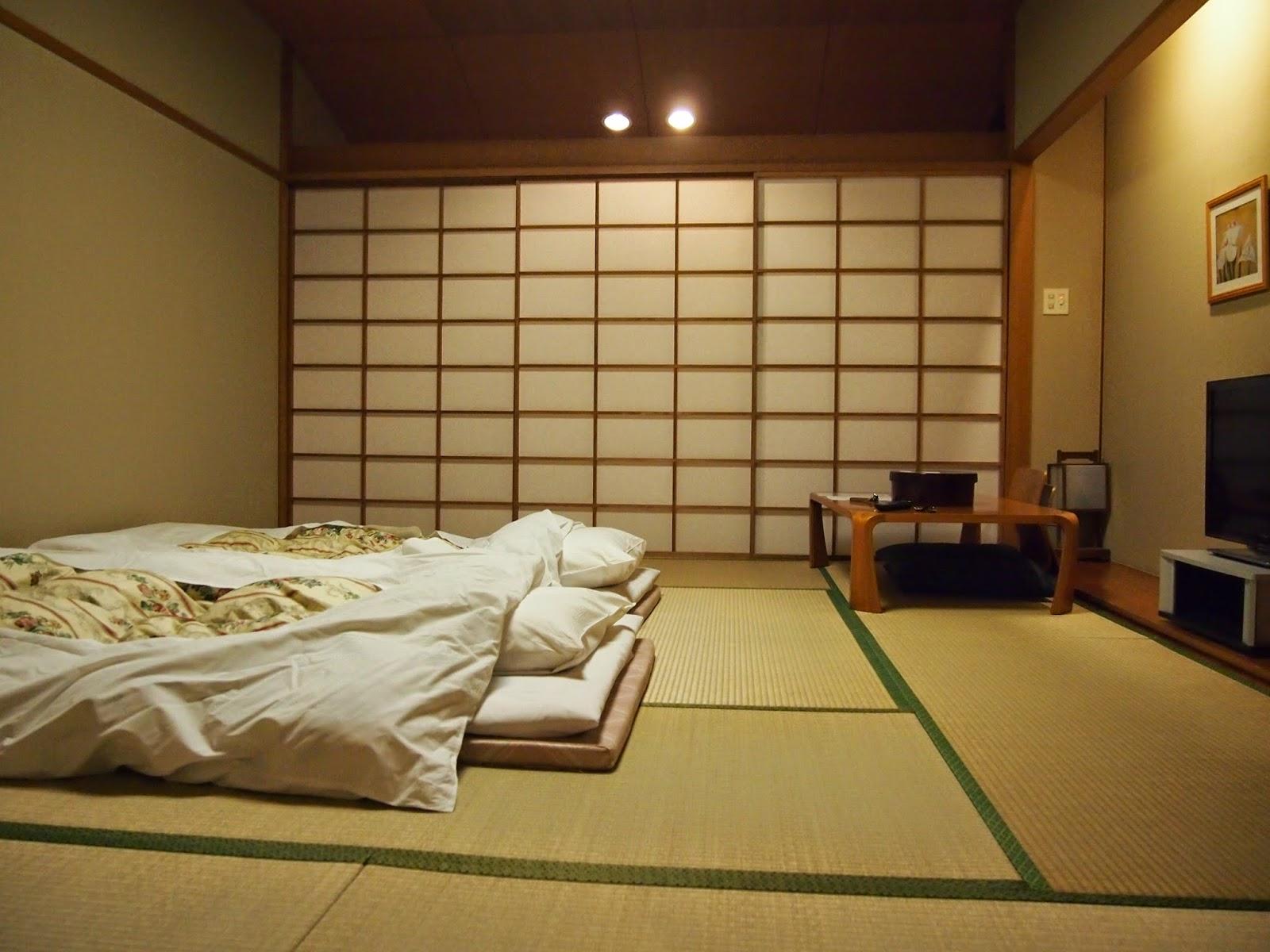 Циновка в спальне в японском стиле