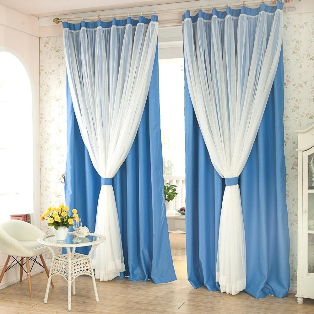 Двойные шторы – красивый комфорт в интерьере (24 фото)