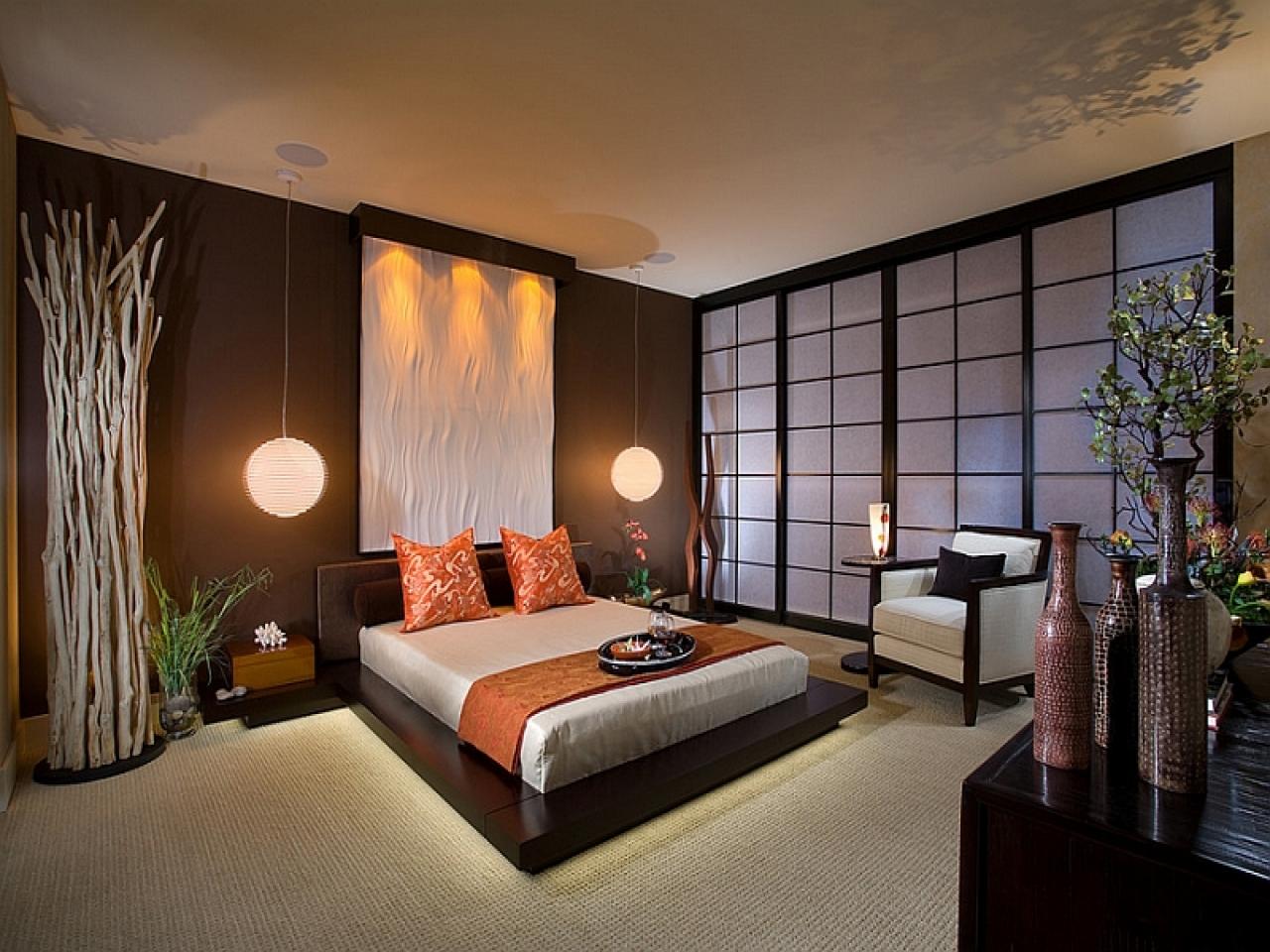 Декор в спальне в японском стиле