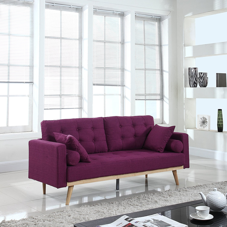 Фиолетовый диван из дерева