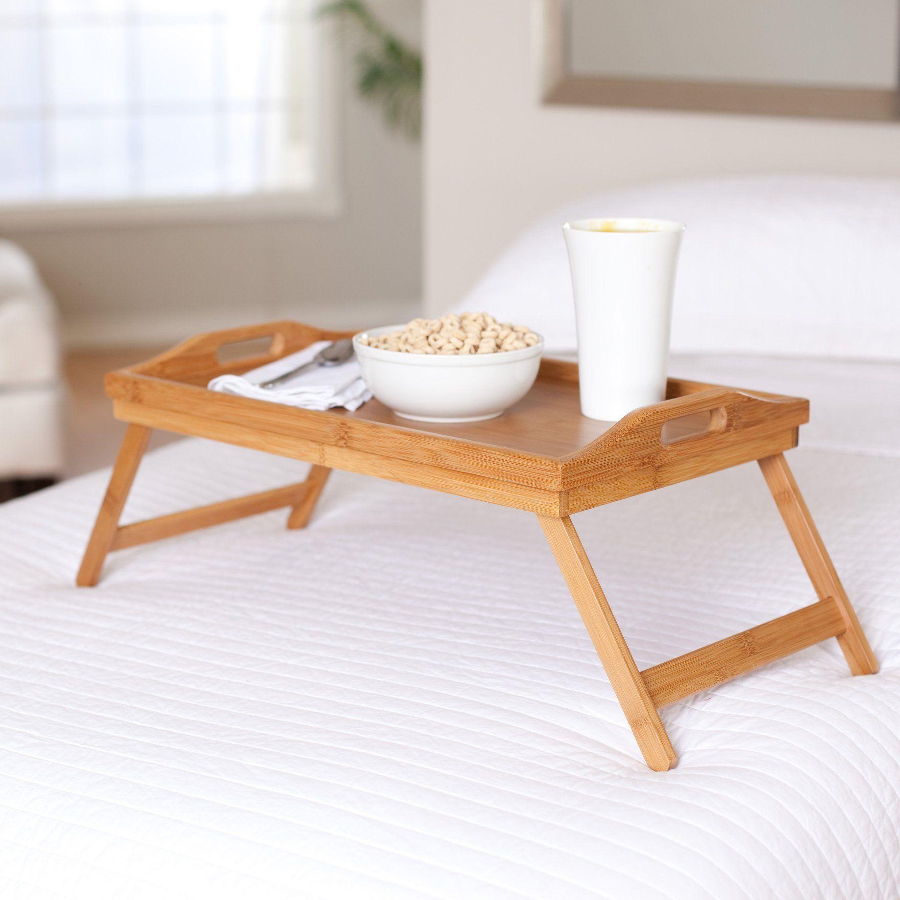 Столик для завтрака деревянный