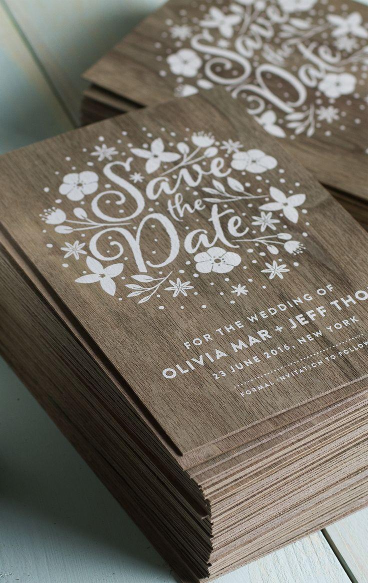 Приглашение на свадьбу из дерева