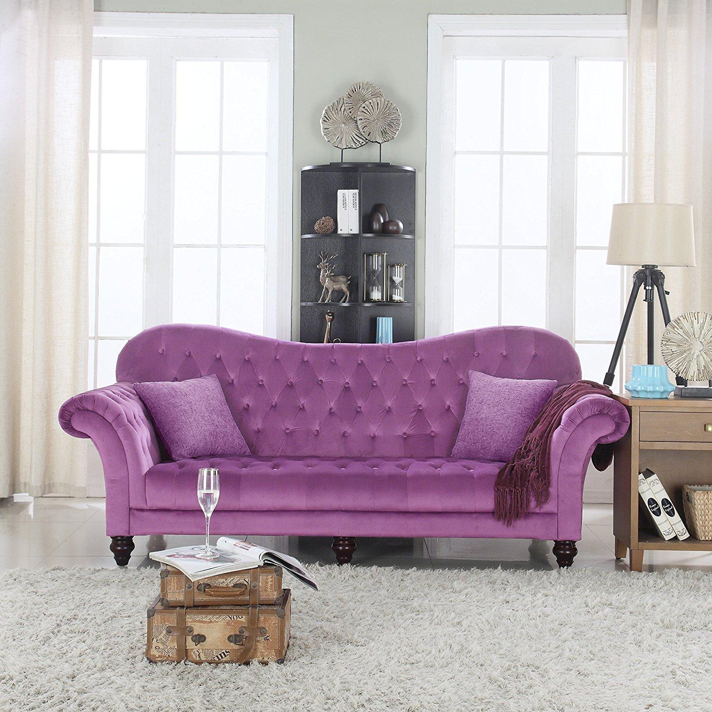 Фиолетовый дизайн дивана