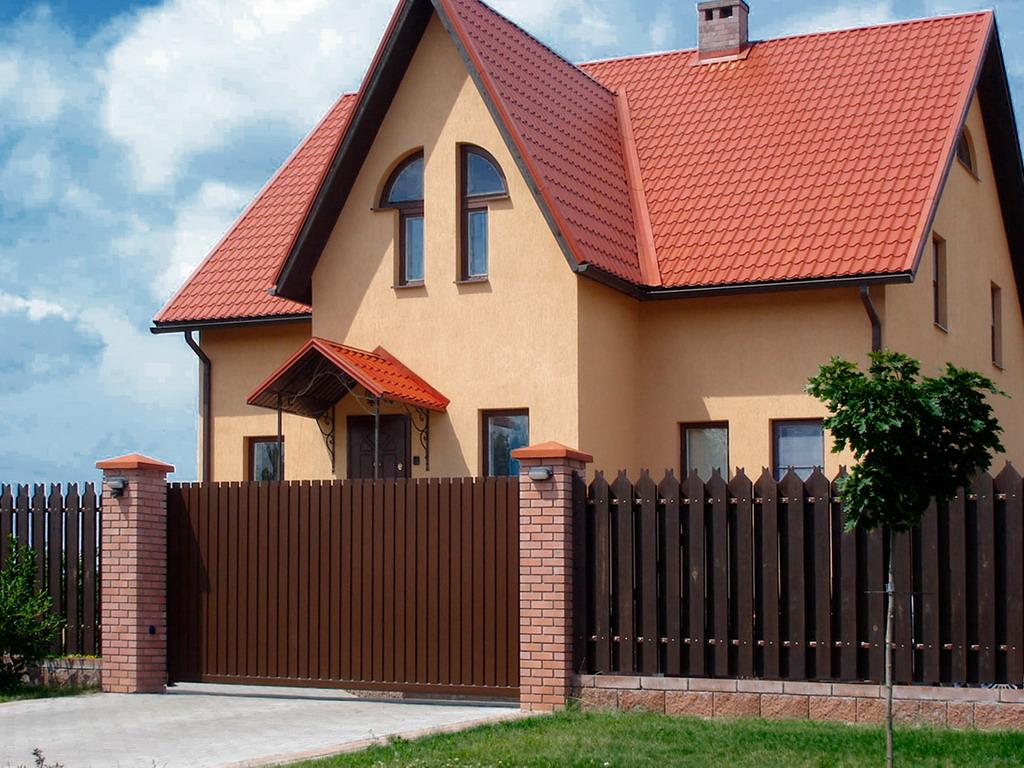 Консольные ворота для дома