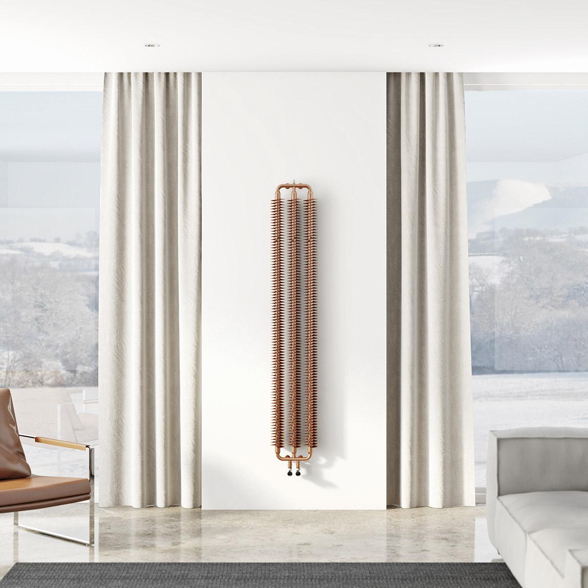 Вертикальный радиатор в доме