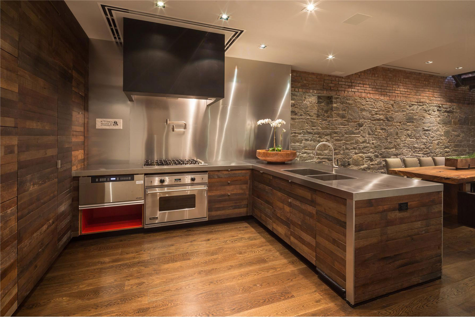 Панели для кухни из досок
