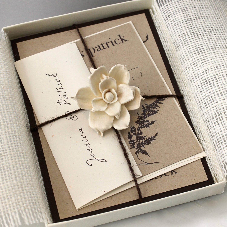 Приглашение на свадьбу в стиле эко