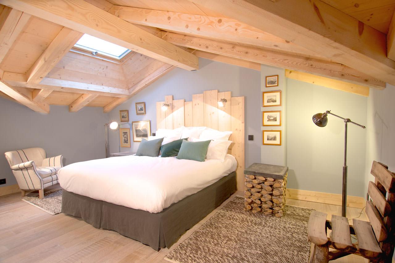 Деревянная спальня в стиле эко