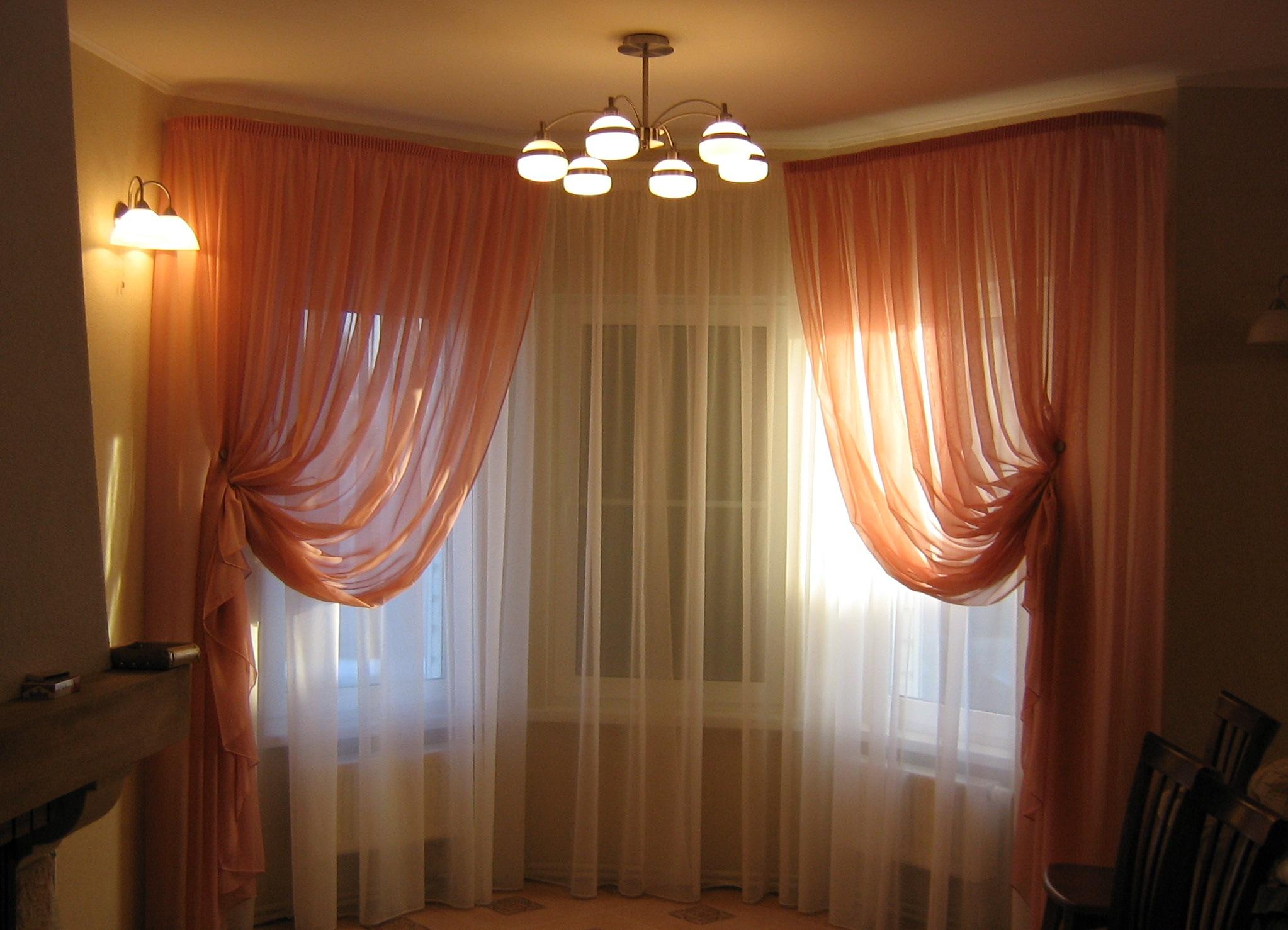 Гибкие шторы для эркера