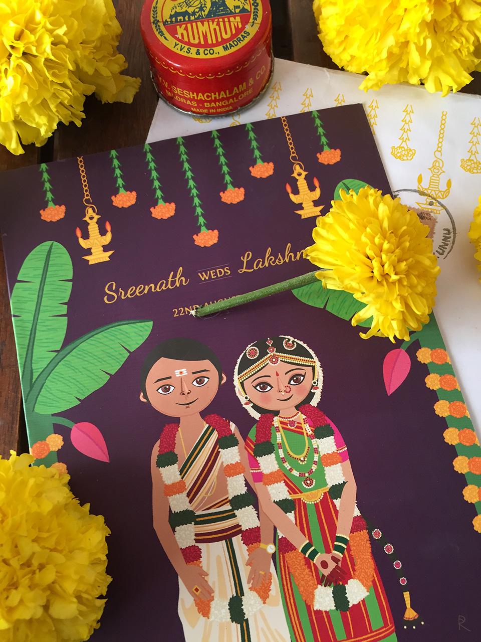 Приглашение на свадьбу в стиле этно