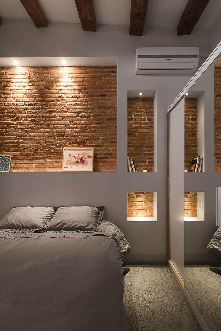 Кровать с полкой из гипсокартона