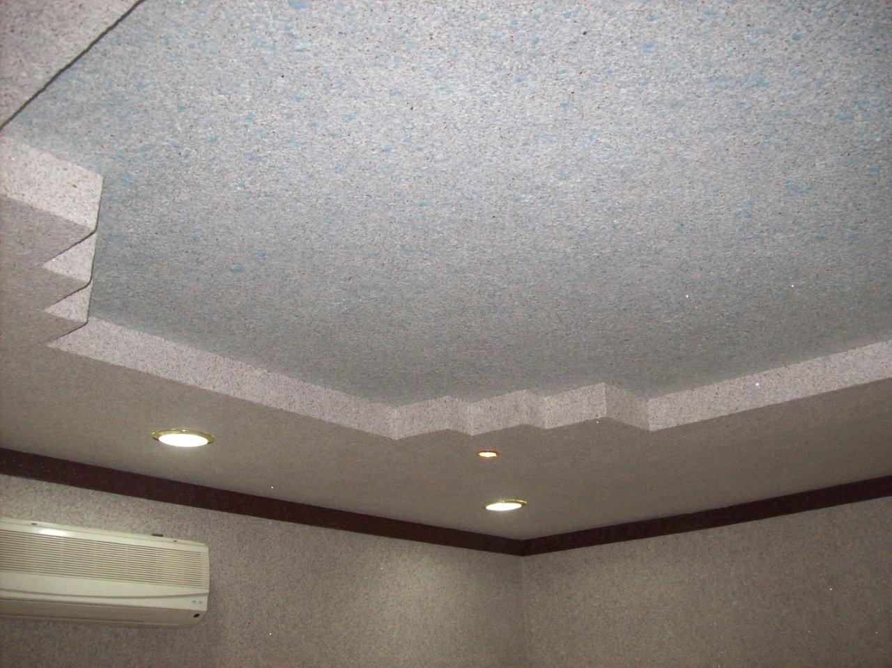 Жидкие обои на потолок из гипсокартона