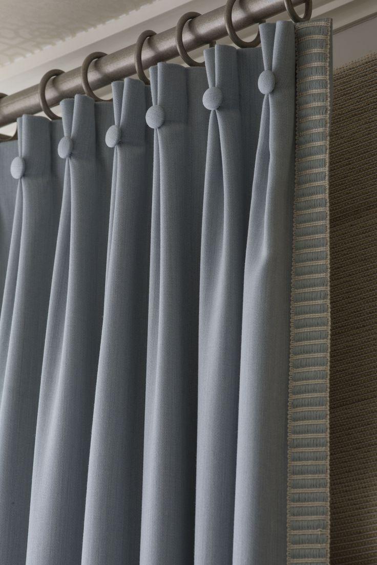 Голубые морские шторы в детской