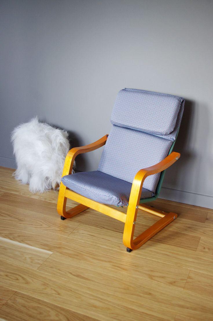 Кресло поэнг голубое