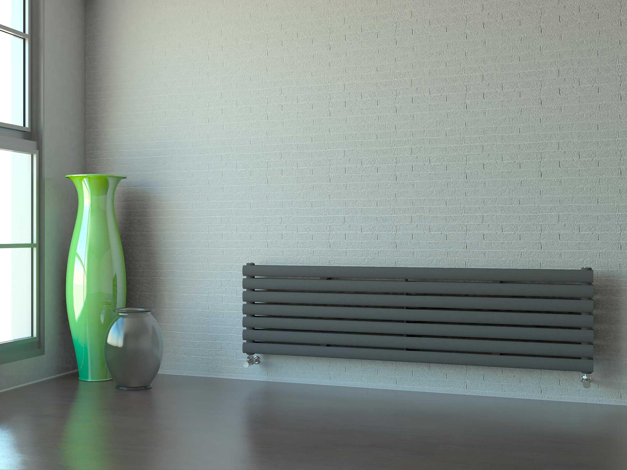 Настенный радиатор горизонтальный