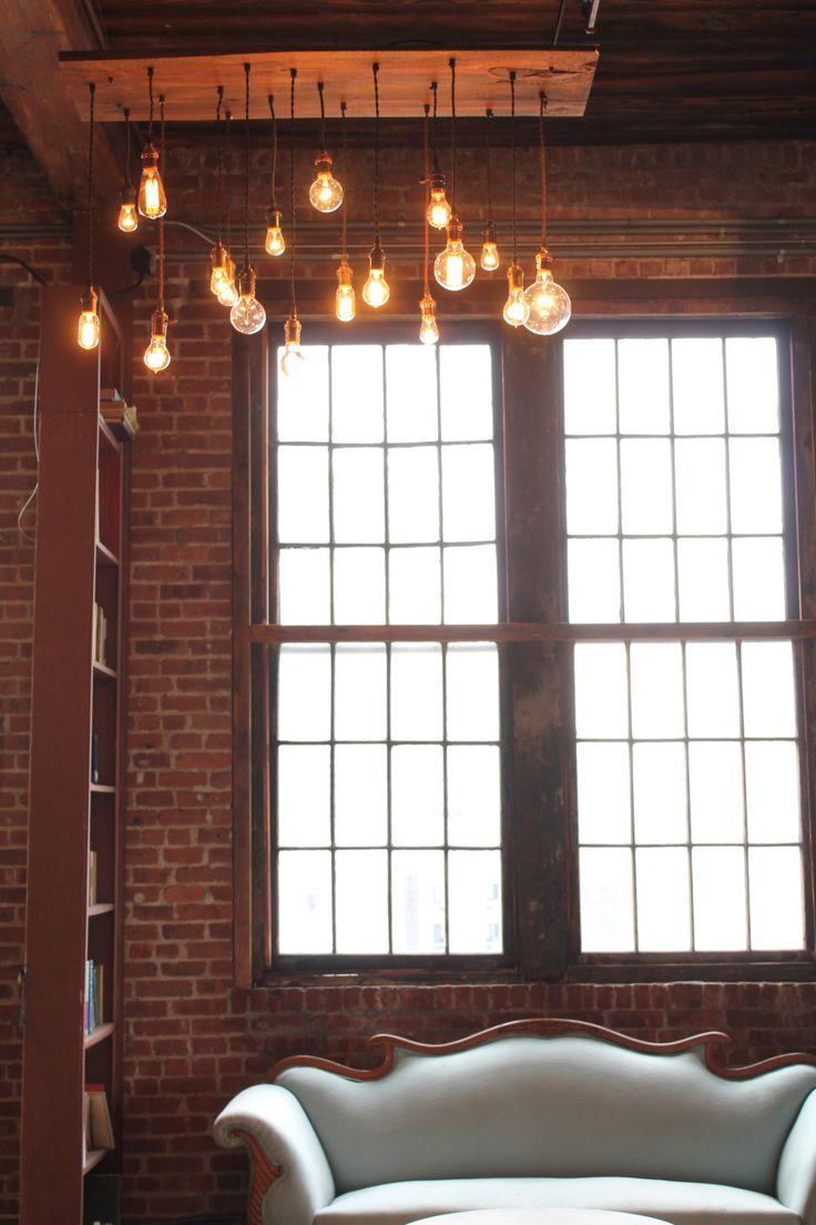 Лампа Эдисона в гостиной