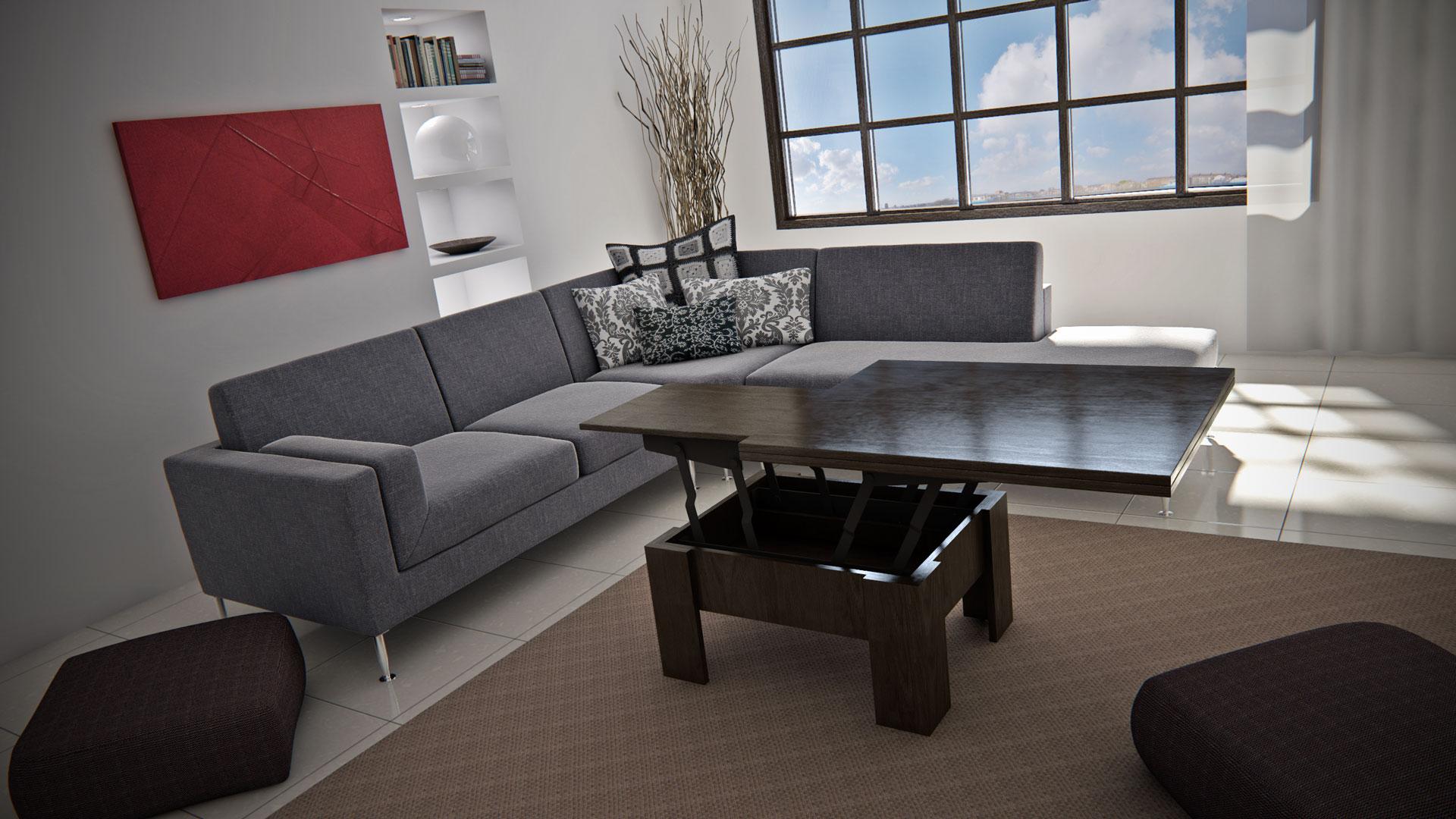 Стол трансформер в гостиной
