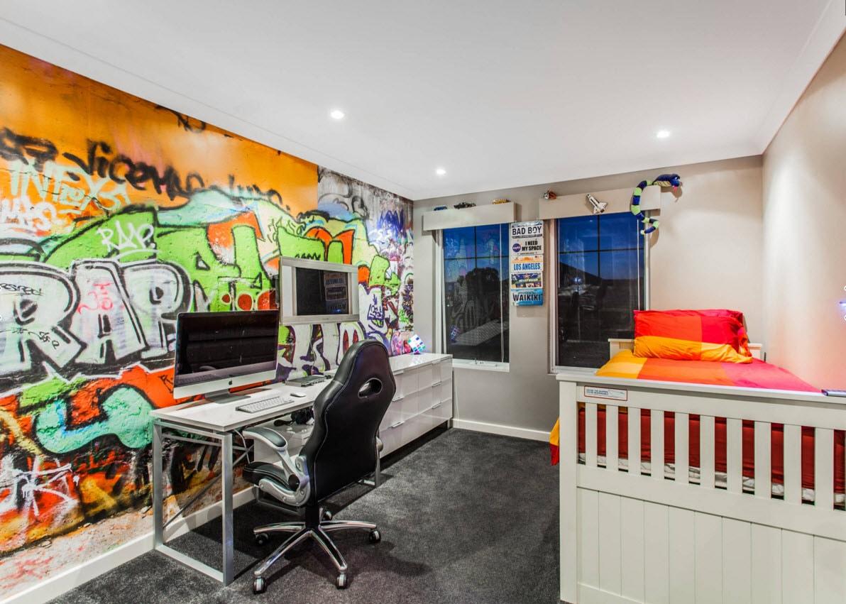 Обои с граффити для комнаты подростка