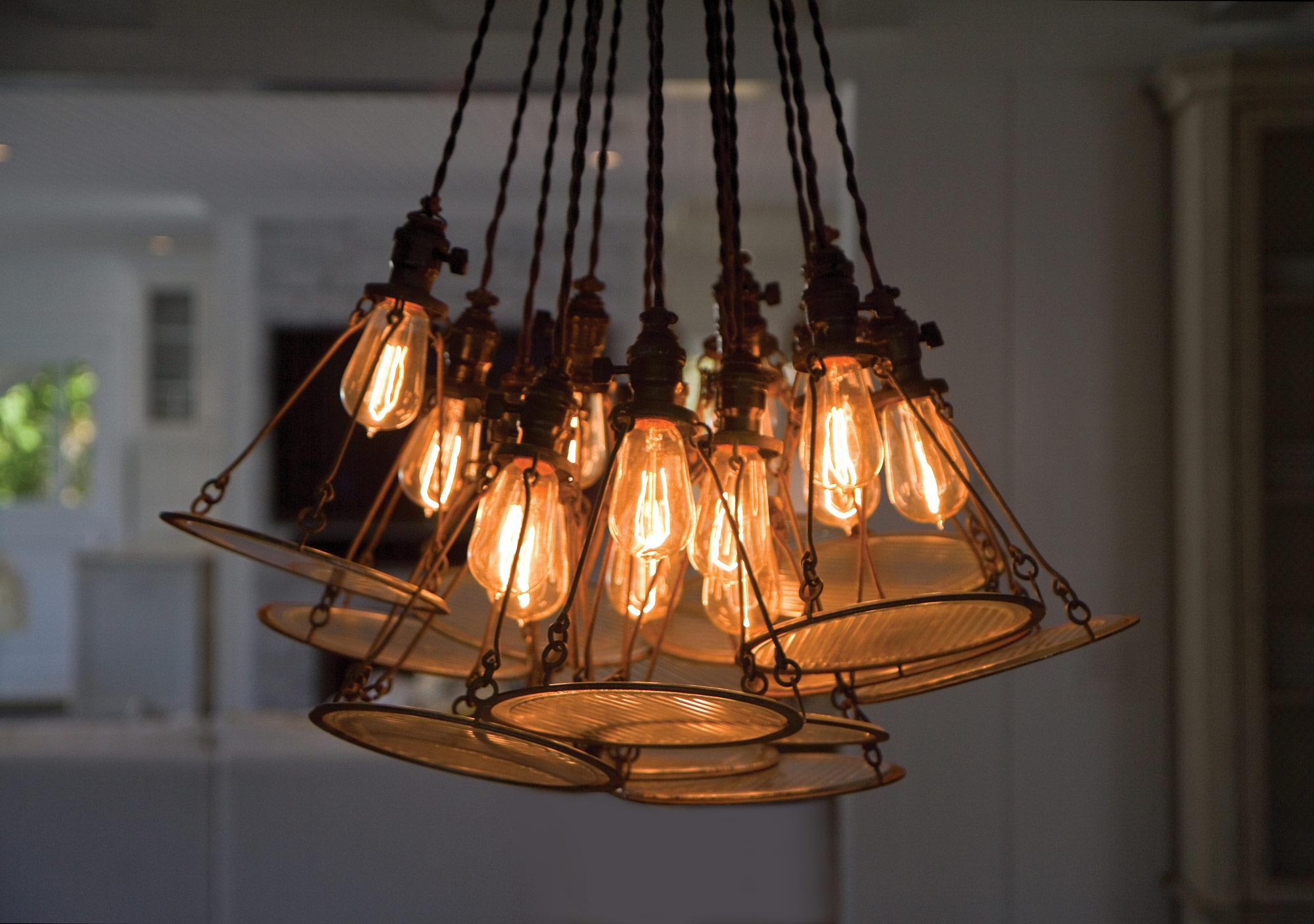 Лампа Эдисона в индустриальном стиле