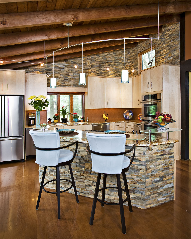 Панели под камень для кухни