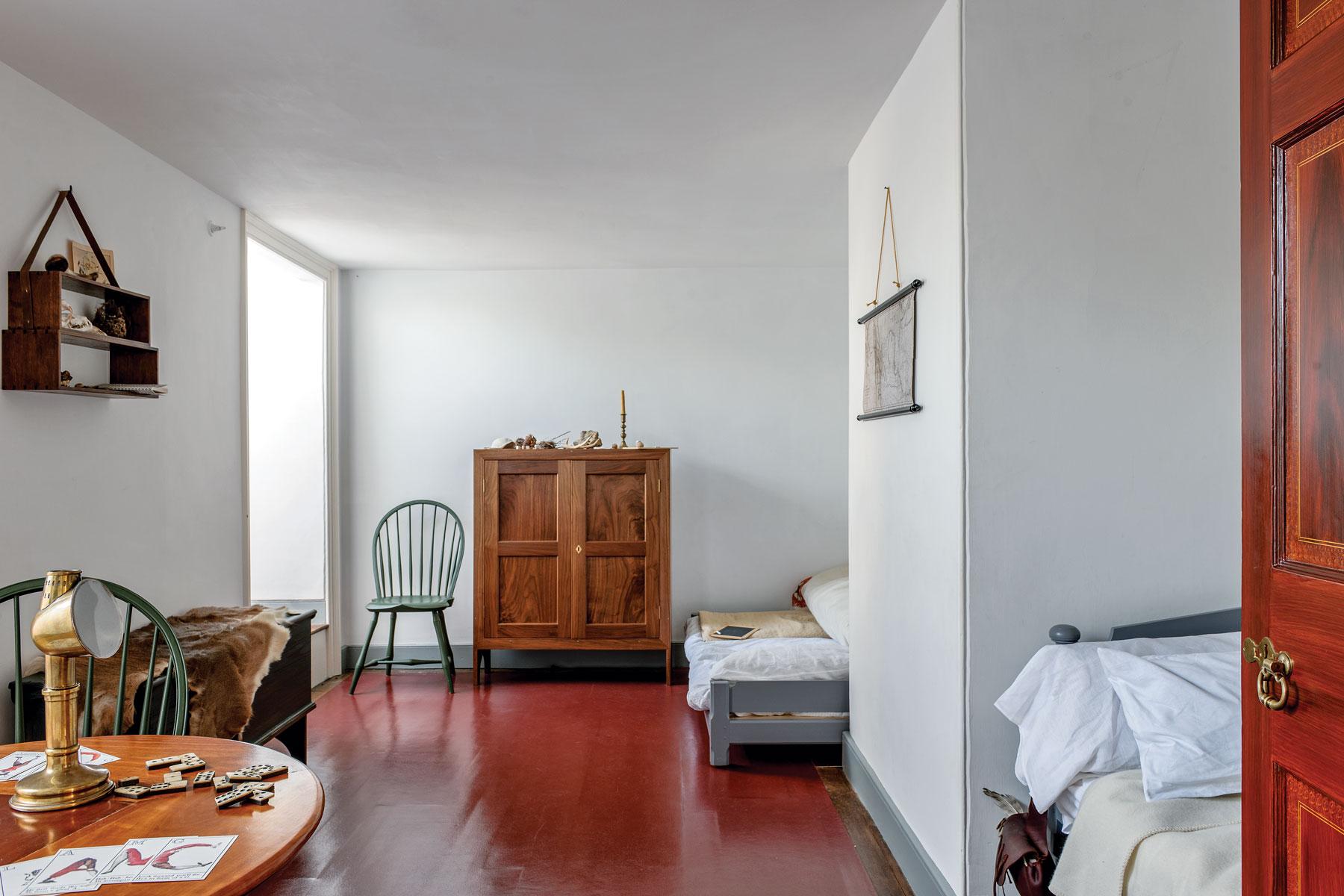 Ниша в спальне в стиле кантри