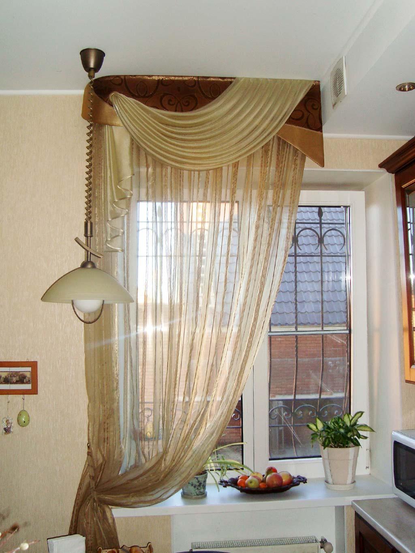 Коричневые шторы на одну сторону
