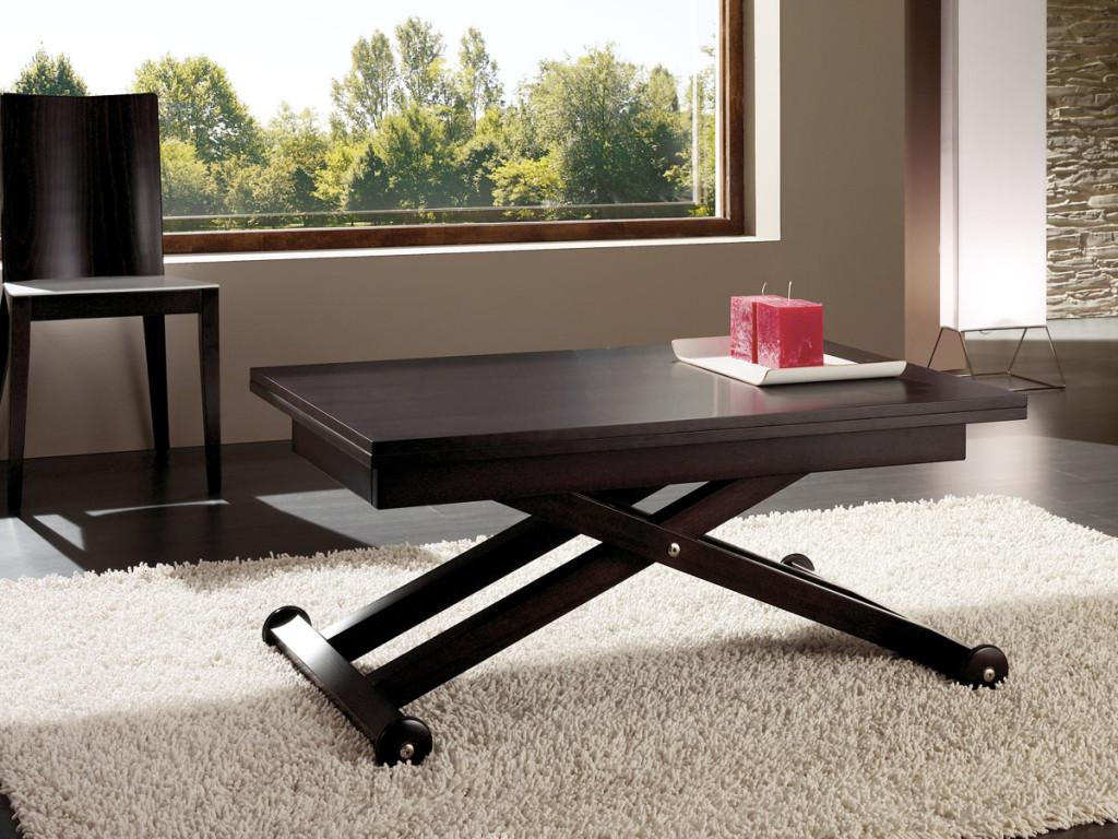 Коричневый стол трансформер