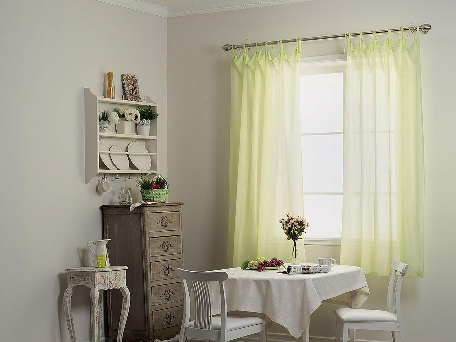 Короткие шторы из вуали