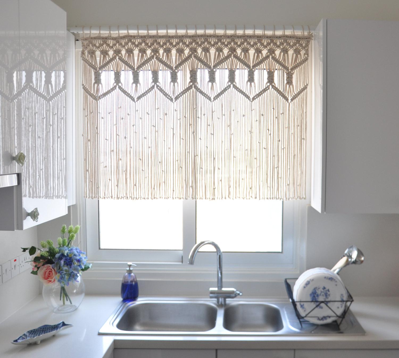 Нитяные короткие шторы
