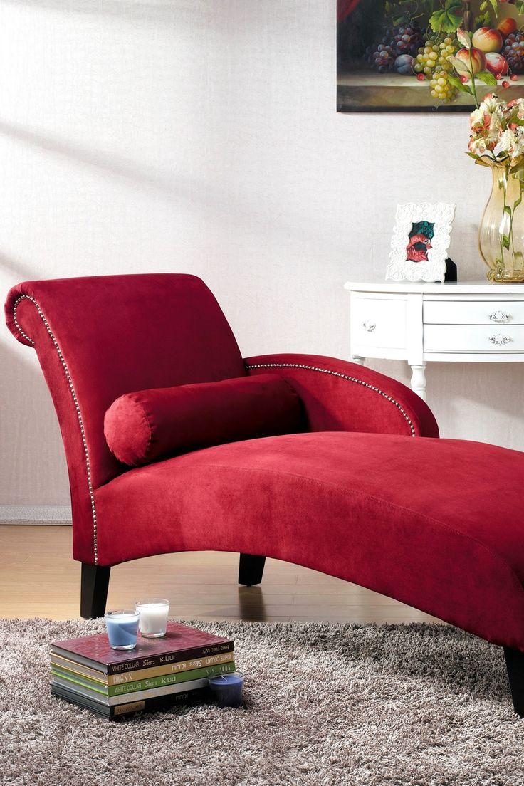 Красный диван кушетка