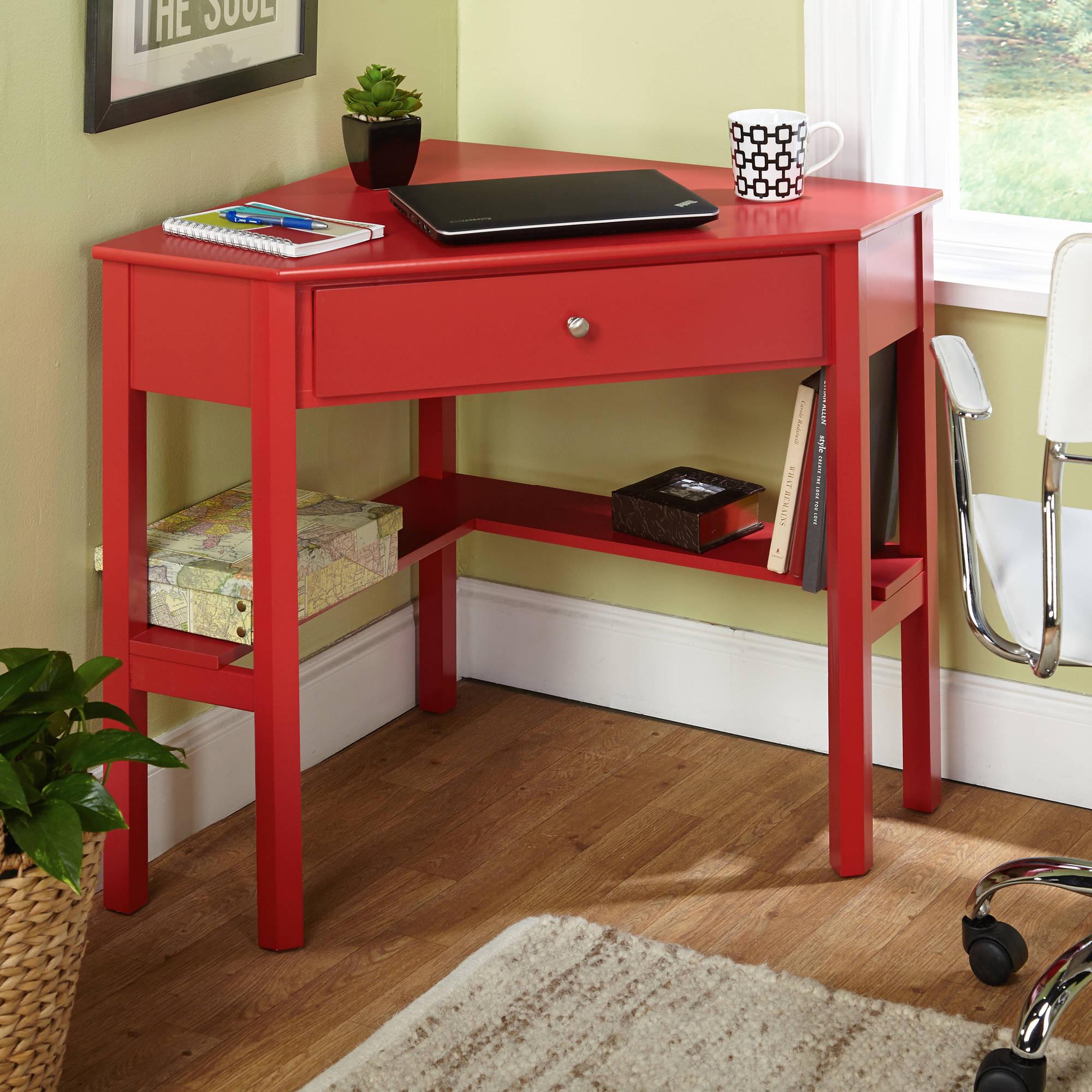 Угловой красный стол