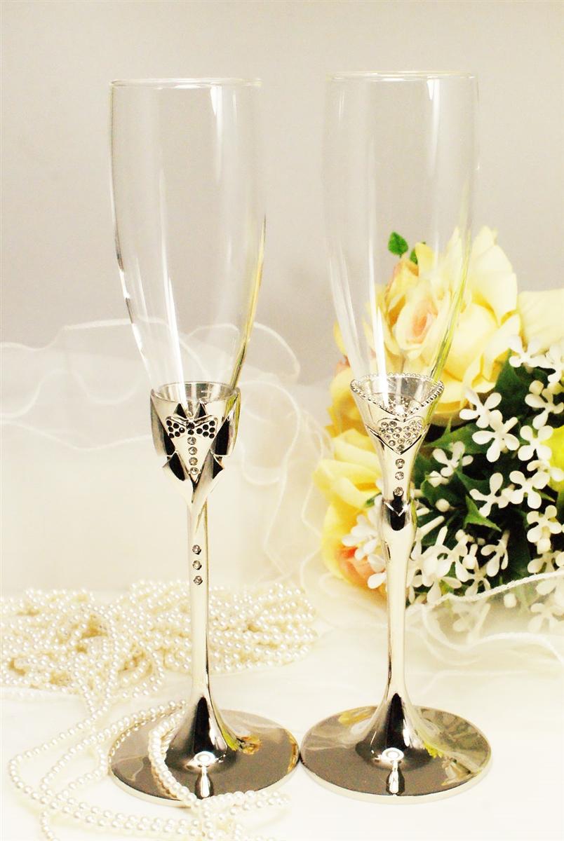Свадебные бокалы с кристаллами