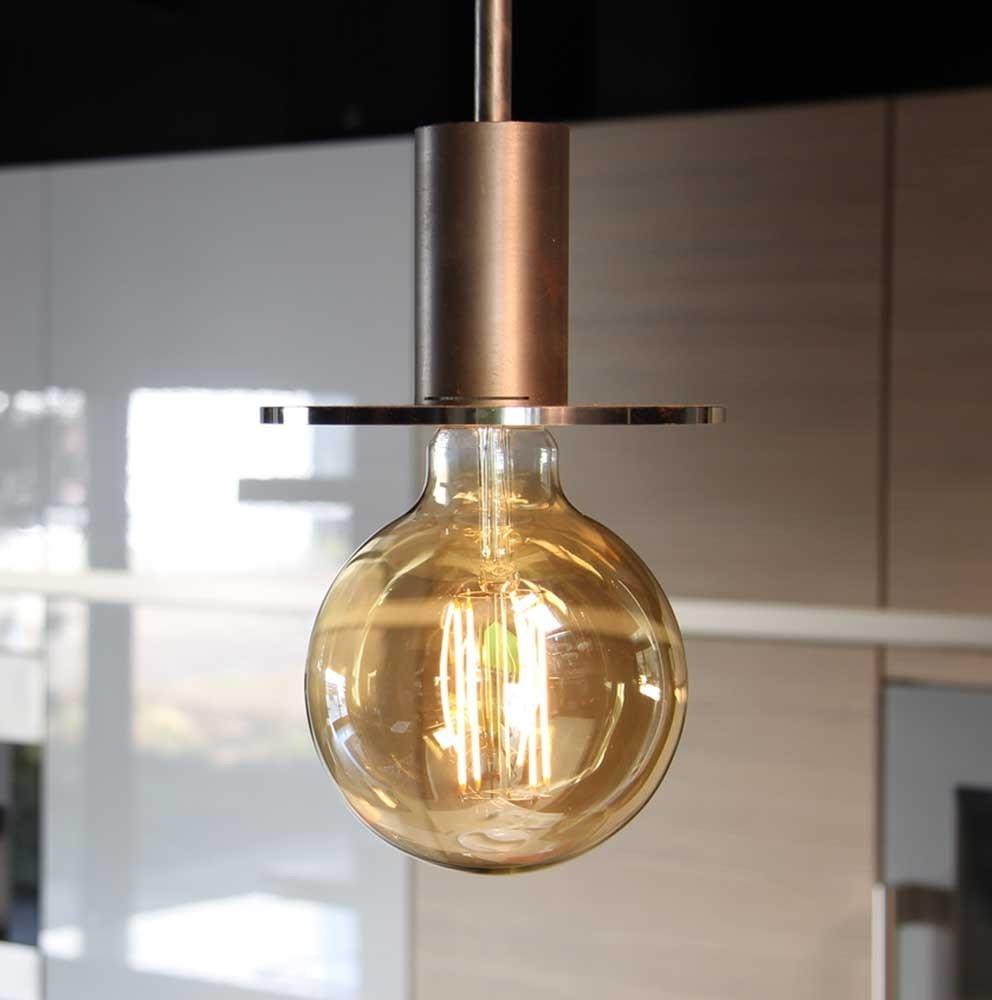 Лампа Эдисона на кухне