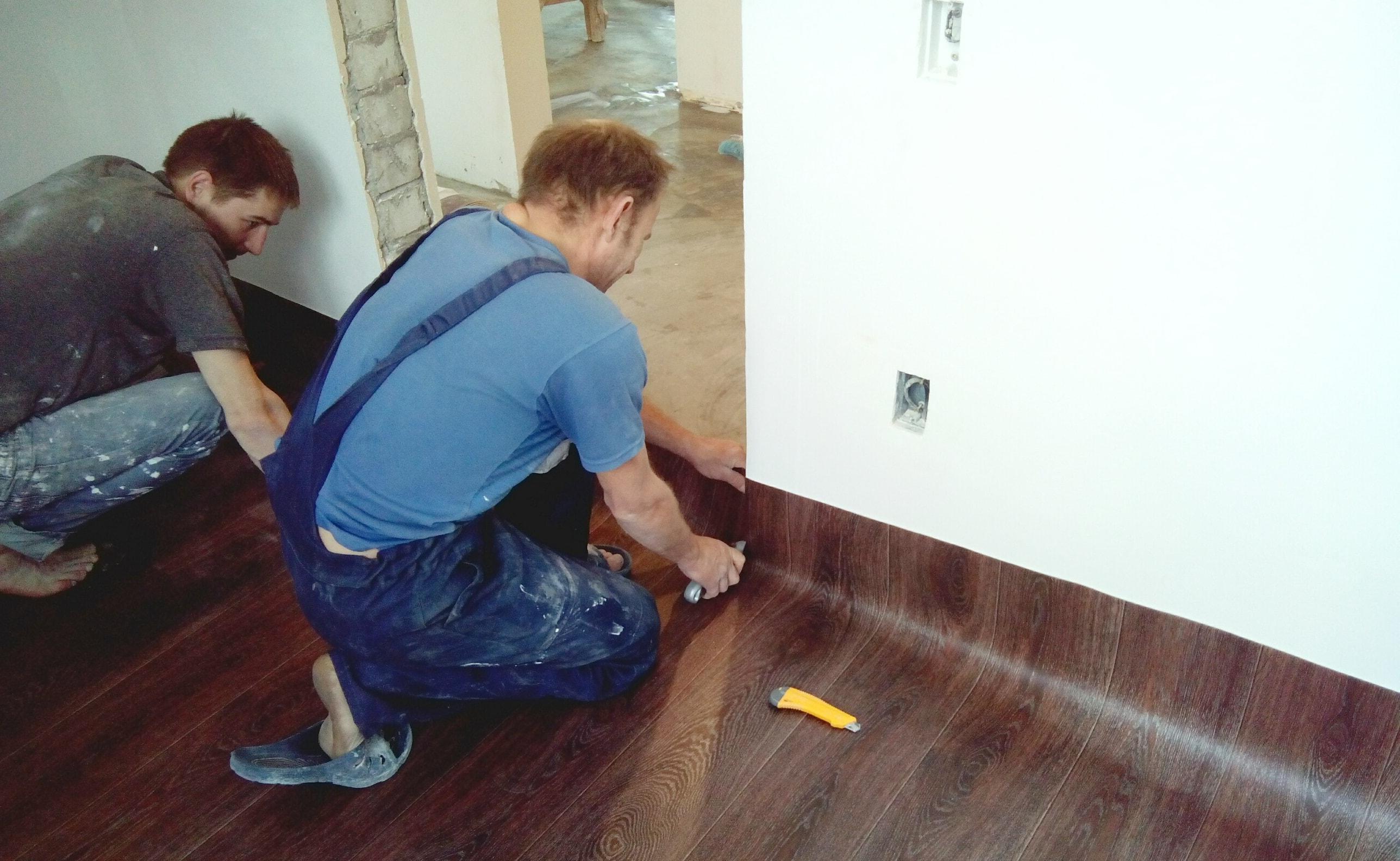 Укладка линолеума на бетонный пол в квартире