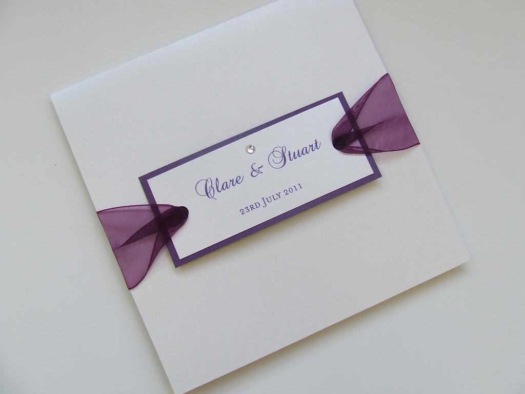 Приглашение на свадьбу с лентой