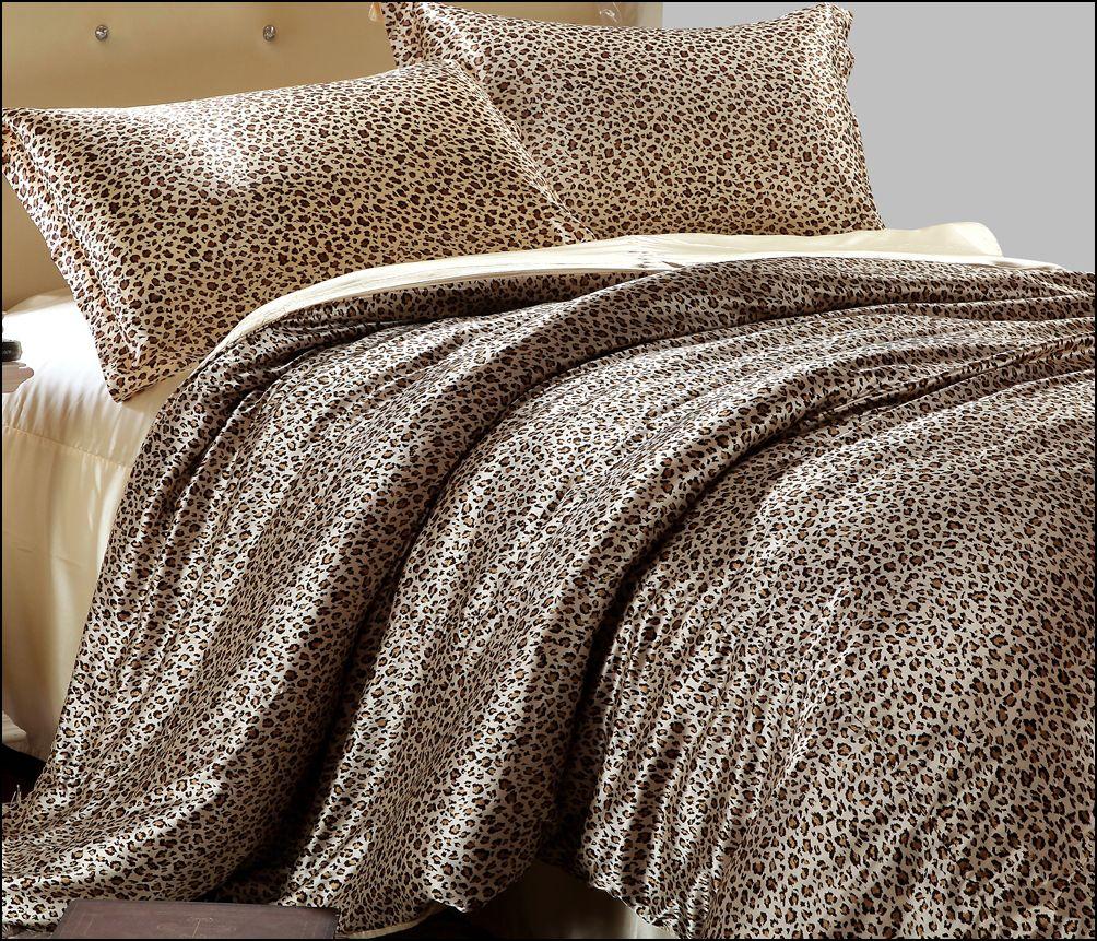 Шелковое постельное белье с леопардовым принтом
