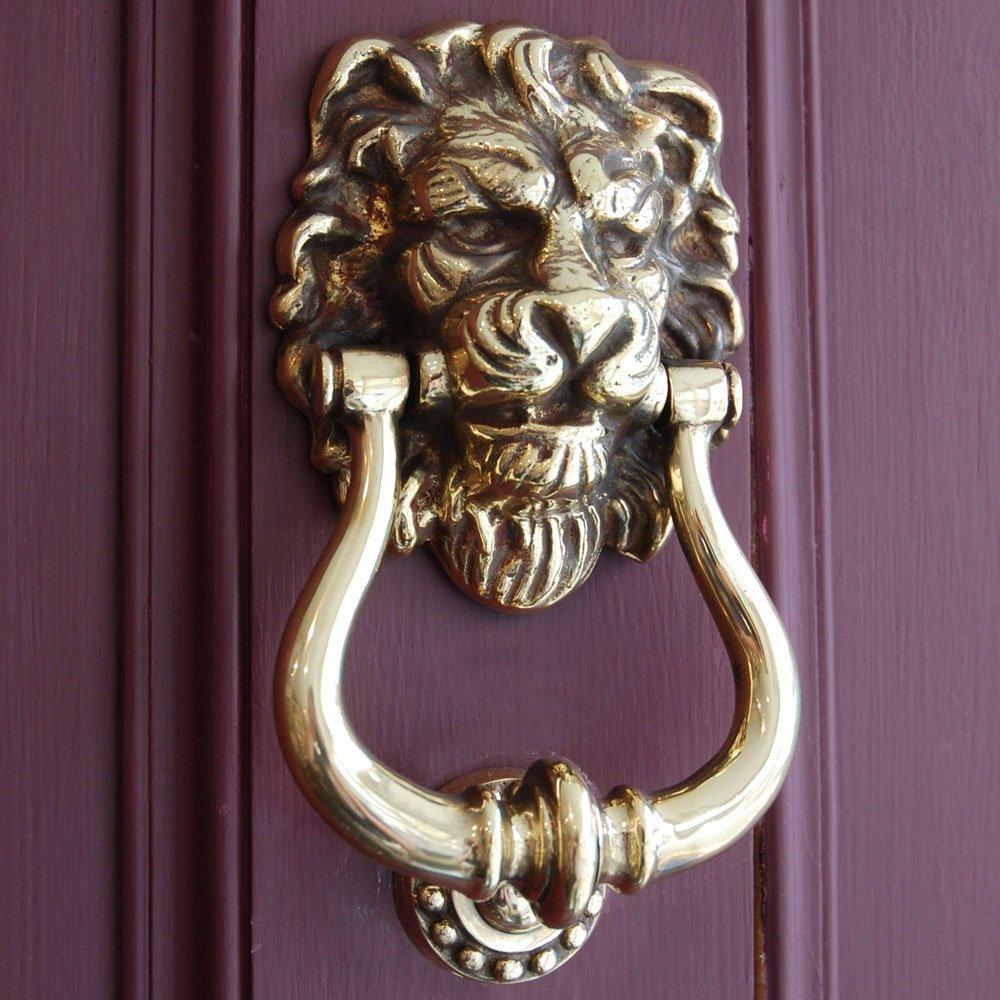 Дверной звонок в виде льва