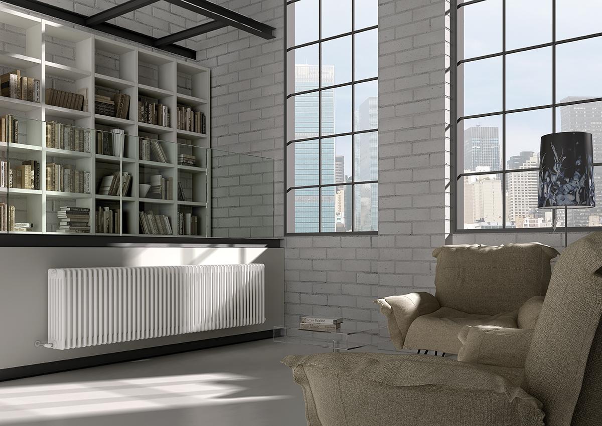 Биметаллический радиатор в стиле лофт