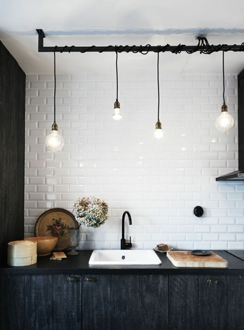 Труба на кухне в стиле лофт