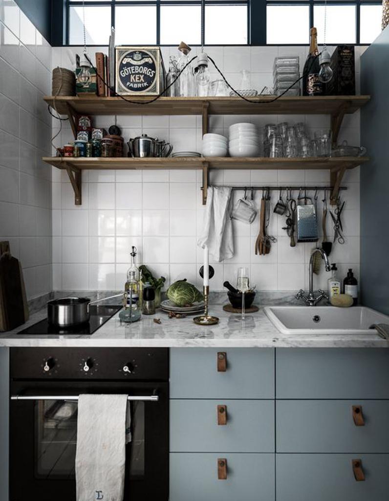 Кухня в хрущевке в стиле лофт
