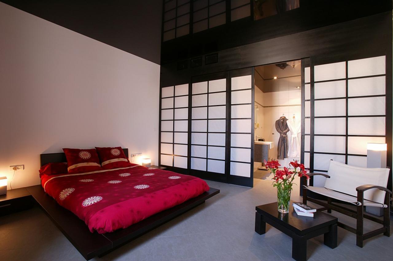 Мебель в спальне в японском стиле