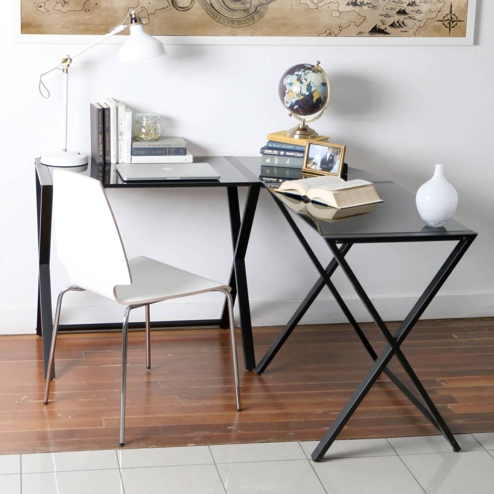 Угловой стол на металлокаркасе