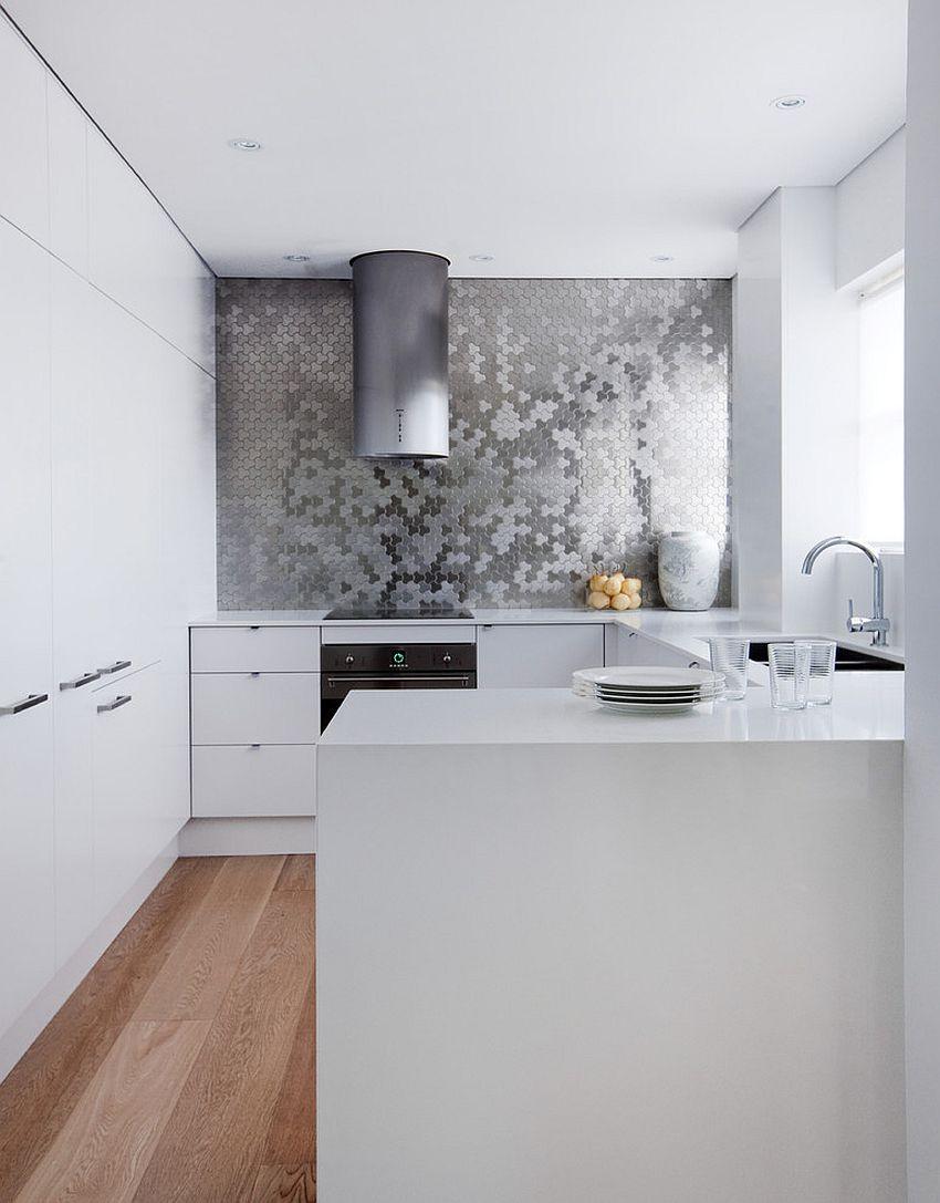 Плитка под металл для кухни